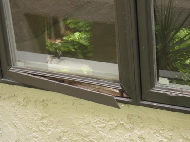 Bedroom window frame damage- Naples, Florida